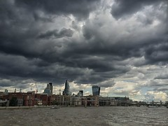 London City Skyline (Daniel2005) Tags: london thames stormy cloudporn iphone thamescruise