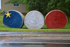 Acadian Hay (Joe Shlabotnik) Tags: flag newbrunswick hay clair acadian 2014 faved afsdxvrzoomnikkor18105mmf3556ged cma2014 august2014
