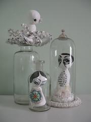 sea creatures (made some art) Tags: sea sculpture art glass georgia shrine assemblage jar octopus artdoll seacreatures sewn rusch apocrathy