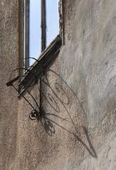 (:Linda:) Tags: shadow abandoned window germany town all thuringia flagholder hildburghausen eisfelderstrase
