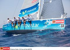 """El """"Movistar"""" compitiendo en la bahía de Palma"""