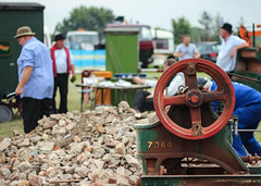 Re-enactment at Traction Engine Rally (Pushing Pixels) Tags: people cooking breakfast canon vintage fun eos play rally traction engine lifestyle steam traveller acting dslr miners pickering gyspy