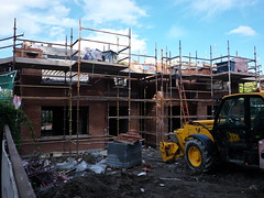 (turgidson) Tags: road ireland red house brick studio lens four lumix prime construction raw scaffolding 5 g ve