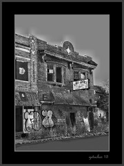 Kim's Lounge on Chene (the Gallopping Geezer 3.8 million + views....) Tags: party bw white black abandoned bar club canon blackwhite closed dancing decay michigan lounge detroit faded vacant worn weathered derelict destroyed decayed geezer destroy corel 2013 chenest