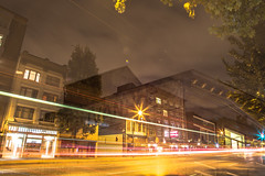 August 30, 2014 (Amanda Catching) Tags: city longexposure morning light streets vancouver line east