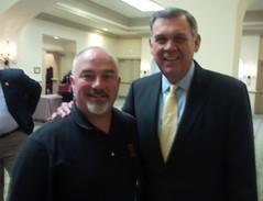 Rep. Matt Hudson with former U.S. Senator Mel Martinez