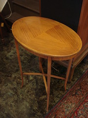 "SATINWOOD END TABLE OF DELICATE FORM. • <a style=""font-size:0.8em;"" href=""http://www.flickr.com/photos/51721355@N02/14907213436/"" target=""_blank"">View on Flickr</a>"