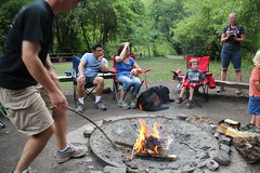 Riling up the fire (Aggiewelshes) Tags: camping justin vanessa gavin august victor campfire olsen logancanyon 2014 jalila guinavahmalibu