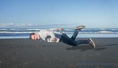 Self Portrait - Beach Levitation (jasonclarkphotography) Tags: selfportrait beach sony levitation nex spencerpark nex5 tccsep14