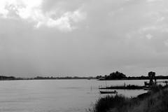 DSC03664_Fotor (bjdewagenaar) Tags: bw white black water dutch contrast river boat ship zwartwit zwart wit
