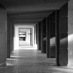 Barbican (itmpa) Tags: london monochrome canon square centre barbican crop cropped desaturated 1960s 1970s complex brutalism brutalist listed cityoflondon 6d barbicancentre thebarbican gradeii barbicanestate thebarbicancentre barbicancomplex chamberlinpowellandbon canon6d tomparnell itmpa archhist 19651976