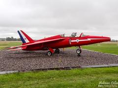 Royal Air Force --- Red Arrows --- Folland Gnat T1 --- XR540 (Drinu C) Tags: plane aircraft military sony dsc gnat redarrows raf t1 cotswold kemble folland egbp hx100v xr540 adrianciliaphotography