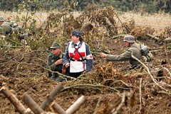 Nurse! (MJ_100) Tags: infantry germany wwii german ww2 soldiers nurse heer reenactment troops reenactors secondworldwar 2014 wehrmacht victoryshow
