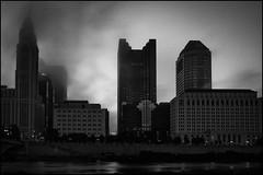 Cityscape 2 (Stephen A. Wolfe) Tags: morning columbus ohio blackandwhite fog cityscape niksilverefexpro2 fujinonxf18mmf20 fujixe1 adobelightroom56