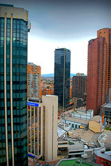 Bogot Centro Internacional (Andresw9) Tags: calle centro internacional 32 tarde carrera septima davivienda