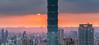 101夕陽寬景 (JIMI_lin) Tags: sunset panorama widescreen 101 taipei 信義區 觀音山 大冒險 寬景 虎山峰