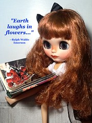 """Juliette: """"Earth Laughs in Flowers..."""": Toy-in-the-frame Thursday"""