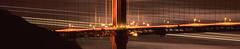 Cutting it Thin at the Golden Gate Bridge (RZ68) Tags: bridge light moon tower film night reflections golden gate san francisco long exposure ships marin north wide trails panoramic full velvia telephoto headlands moonlight streaks provia rd rz67 ggnra e100 conzelman