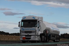 Hugh Simpson Contractor Wick Renault SY12 BVE (Kilmachalmag) Tags: scotland trucks tanker tankers a9 lorries hgv rossshire lorrys alnesspoint