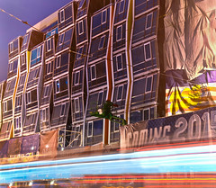 vida sf coming 2015 (pbo31) Tags: sanfrancisco california city summer urban color bus architecture night nikon apartment contemporary september muni missiondistrict missionstreet d800 2014 2015 lightstream vidasf missiontheatreredevelopment