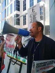 Socialist Worker Representin @ Kingsley Burrell protest - 8 Sept 2014