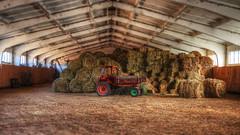 Tonemapped (deVetal) Tags: tractor barn ukraine hay hdr
