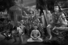 Durga | Shiva | Buddha | Human (Rk Rao) Tags: street old india history canon gold blackwhite buddha delhi group happiness human shiva morningglory durga supershot anawesomeshot rkrao morningcanon uniqueaward titarpurtagoregarden