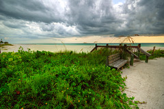 Stormy skies over Anna Maria Island (ap0013) Tags: ocean sunset anna storm gulfofmexico clouds america mexico island gulf florida maria explore thunderstorm fl hdr annamariaisland