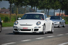 Porsche 997 GT3 MkI (D's Carspotting) Tags: white belgium porsche gt3 997 maldegem mki nr001 20080830