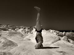 (tSos Greq) Tags: male yoga greece macedonia inverted asana headstand
