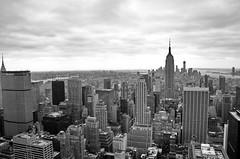 New York City, from Top of the Rock (tomweidlein) Tags: city nyc blackandwhite bw usa white ny newyork black skyline skyscraper nikon cityscape manhattan esb empire highrise sw empirestatebuilding schwarzweiss weiss schwarz d7000