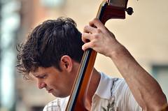 Josh Houchin (forestforthetress) Tags: musician music man festival fun concert nikon duo gig band jazz instrument fridaynightlive omot