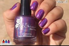KBShimmer - Orchidding Me? (Raabh Aquino) Tags: unhas holográfico holosexual esmalte rosa purple
