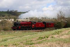 45699 'Galatea', LMS Jubilee Class 6P 4-6-0, Newton Meadows, Bath, Somerset (Kev Slade Too) Tags: 45699 galatea lms jubileeclass6p steam westcoastrailwaycompany cathedralsexpress 1z53 newtonmeadows bath somerset