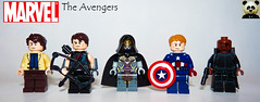 The Avengers (Random_Panda) Tags: marvel lego figs fig figures figure minifigs minifig minifigures minifigure purist purists character characters comics superhero superheroes hero heroes super comic book books films film movie movies tv show shows television avengers avenger captain america cap hawkeye black widow hulk iron man thor shield assemble bruce banner nick fury the other chitauri loki