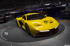 Fittipaldi & Pininfarina (Iceman_Mark) Tags: fittipaldi motors design pininfarina yellow 48litre naturally aspirated v8 supercar track only pirelli pzero salon geneve geneva motorshow 2017