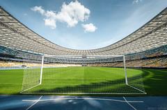 Lets play ⚽️ (Andrey Baydak) Tags: stadium wideangle nscolympic нсколімпійський 1424 стадіон стадион поле футбол ворота football fussball sky himmel blue gates kyiv киев київ symmetry