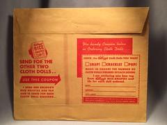 Kellogg's Rice Krispies Cloth Doll 2 Package Rear (toyfun4u) Tags: kelloggs cereal rice krispies