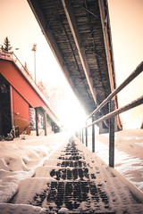 into the light (Nippe16) Tags: snow winter dreamy moody mist fog atmosphere finland suomi frost frosty snowy urban