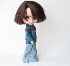 Bloomy (volnaaa) Tags: blythe people plastic blue lilac green spring clothes outfit fashion doll adg