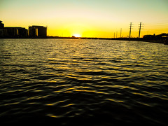 Alone in the Middle (Lilly_Martz11) Tags: sunset tempe town lake phoenix water amazing alone middle arizona home