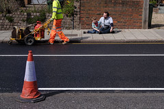 I love the smell of tarmac in the morning (samrodgers2) Tags: colour banal tarmac fanatics london street photography londonstreetphotography