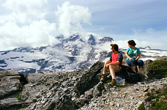 (SamBHart) Tags: nikonfm2 35mmfilm 24mmlens nikkor analogphotography analog wideangle superwide mount rainier mountrainier mountrainiernationalpark mountain clouds dramatic snow hiking hike personal friends couple