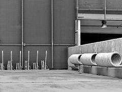bicycle rack (heinzkren) Tags: urban parking wien vienna blackandwhite schwarzweis biancoenero monochrom gitter parkplatz fahrradständer grid architektur architecture building parkgarage garage lines parkhaus parkdeck bicycle gebäude