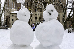 Snowfolks (phillytrax) Tags: philadelphia philly pa pennsylvania cityofbrotherlylove 215 city urban usa america unitedstates metropolis metropolitan winter snow winterstormstella snowmen rittenhousesquare centercity downtownphilly downtownphiladelphia
