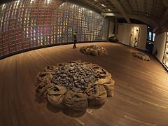 Untitled, Jannis Kounellis, 2002 (nisudapi) Tags: 2017 tasmania hobart berriedale mona museum artgallery art untitled janniskounellis kounellis bag coal nolan sidneynolan snake