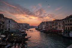 Venice, The Grand Canal from Rialto Bridge (Ian_Boys) Tags: venice italy grand canal sunset rialto sky