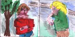 wo würden wir uns wiedersehen (raumoberbayern) Tags: station bahnhof sketchbook skizzenbuch tram munich bus strasenbahn pencil bleistift ballpoint paper papier robbbilder stadt city landschaft landscape spring frühling summer sommer trip germany münchen park buga schilder signs verboten