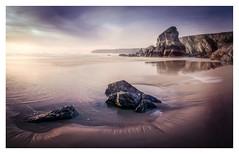 The Sentinels (David Haughton) Tags: bedruthansteps bedruthan cornwall cornish coast coastline beach sea sand rock pools cliffs evening sunset landscape davidhaughton