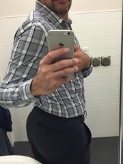 Work selfie (jeremy.jay1231) Tags: bubblebutt dresspants